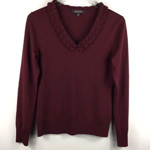 Brooks Brothers 100% Merino Wool v-neck sweater